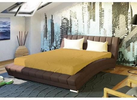 Кровать Оливия тёмно-коричневая