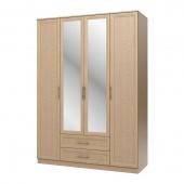 Шкаф 4-х дверный с ящиками венге