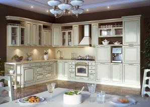 Кухня Барбара люкс слоновая кость