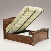 Кровать Карина-3 орех с двумя спинками и подъемным основанием