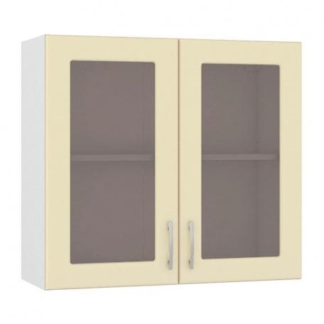 Шкаф-витрина Сандра ваниль 800 (2 двери)