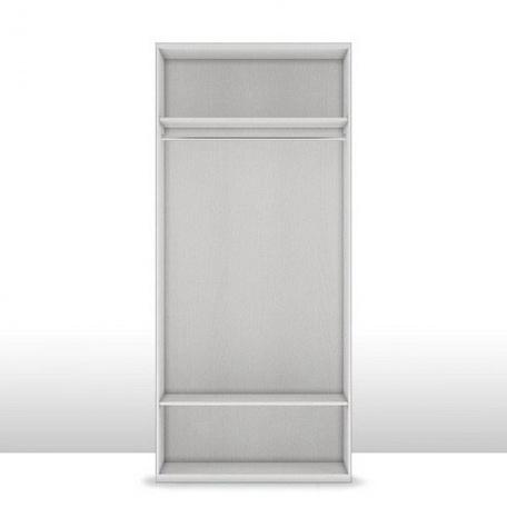 Шкаф 2-х дверный (корпус) Капри со штангой