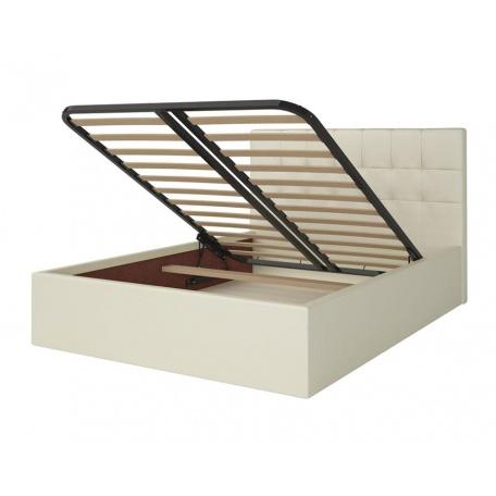 Кровать 1400 Находка кремовая с подъёмным механизмом