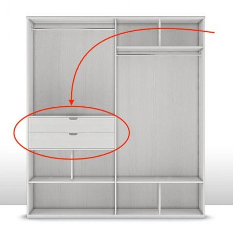 Комплект выдвижных ящиков к шкафу 4-х дверному (2 шт.) Капри