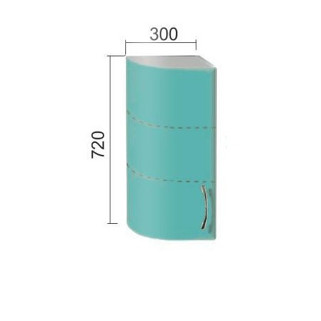Шкаф Е-2820 радиусн.