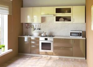 Кухня Сандра ваниль-капучино композиция-1