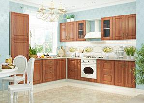 Кухня Ника итальянский орех композиция-1