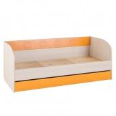 Кровать 194см с выкатным ящиком Маугли оранж