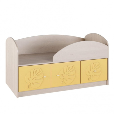 Кровать 114см Маугли жёлтый