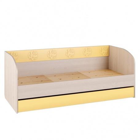 Кровать 194см с выкатным ящиком Маугли жёлтый