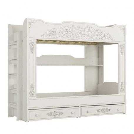 Двухъярусная кровать Ассоль белая