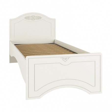 Кровать односпальная Ассоль белая
