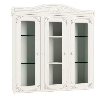 Шкаф-витрина Ассоль белая