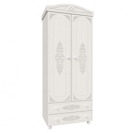 Шкаф 2-х дверный Ассоль белая