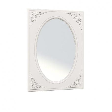 Зеркало овальное Ассоль белая