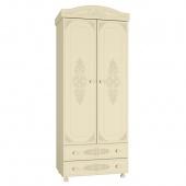 Шкаф 2-х дверный Ассоль ваниль