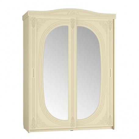 Шкаф-купе Ассоль ваниль с зеркалом