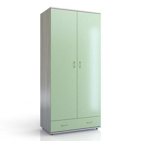 Шкаф 2-х дверный Ларс салатовый