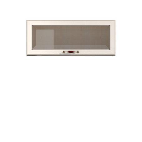 Полка-витрина 900/360 Барбара люкс слоновая кость