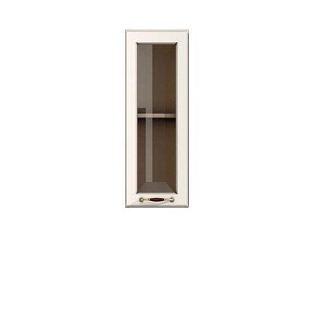 Полка-витрина 300/720 Барбара люкс слоновая кость