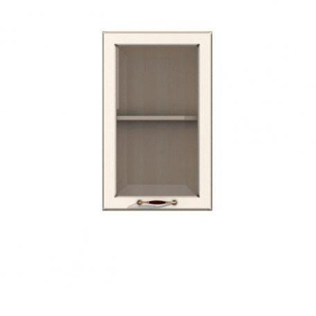 Полка-витрина 500/720 Барбара люкс слоновая кость
