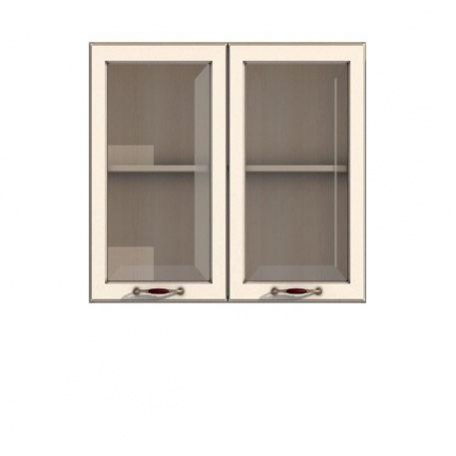 Полка-витрина 900/720 Барбара люкс слоновая кость