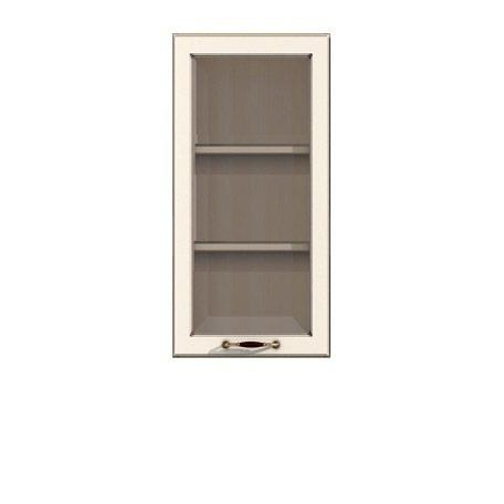 Полка-витрина 400/920 Барбара люкс слоновая кость