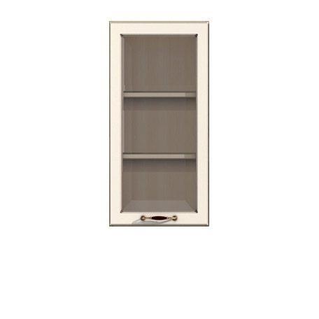 Полка-витрина 450 Барбара люкс слоновая кость