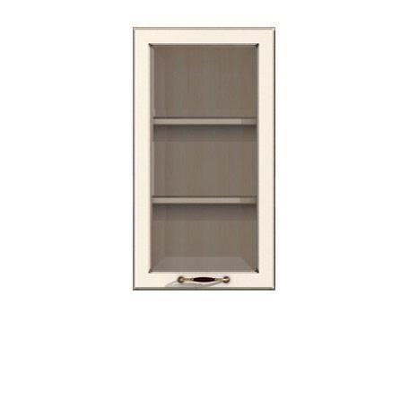 Полка-витрина 500/920 Барбара люкс слоновая кость