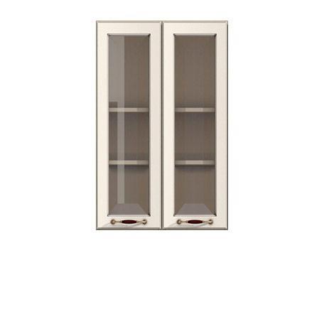 Полка-витрина 600/920 Барбара люкс слоновая кость