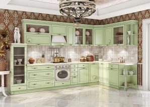 Кухня Барбара люкс салатовая