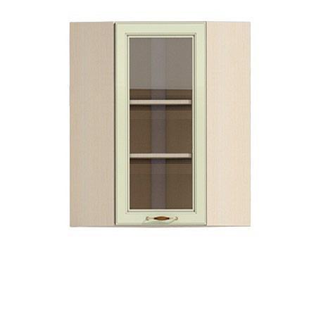 Полка-витрина угловая 600/920 Барбара люкс салатовая