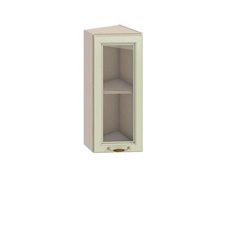 Полка-витрина торцевая 300 Барбара люкс салатовая (высота 720)