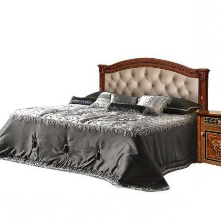 Кровать Карина-3 орех с одной мягкой спинкой