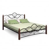 Двуспальная кровать Милая чёрная/шоколад