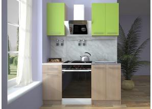 Кухня Ника зелёный/дуб кремона