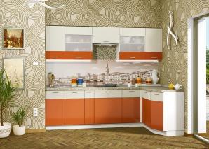Кухня Жанна оранжевая