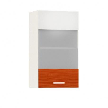 Шкаф-витрина 400 Жанна оранжевая