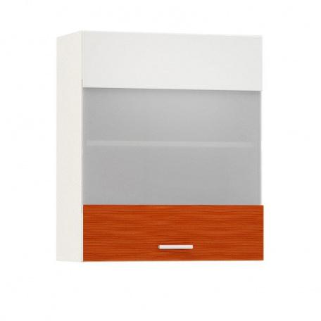 Шкаф-витрина 600 Жанна оранжевая