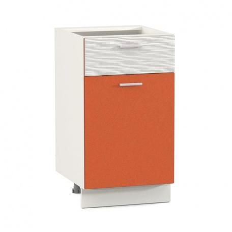Стол 400 Жанна оранжевая с ящиком и дверью