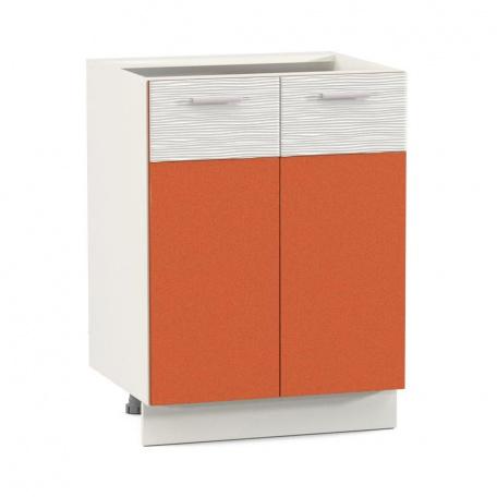 Стол 600 Жанна оранжевая (2 двери)