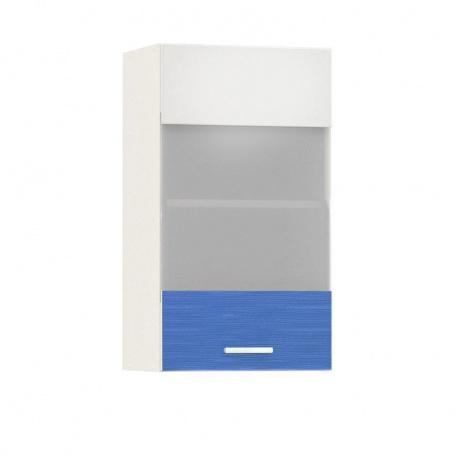 Шкаф-витрина 400 Жанна голубая