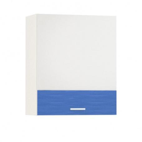Шкаф навесной 600 Жанна голубая (1 дверь)