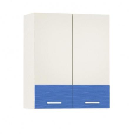 Шкаф навесной 600 Жанна голубая (2 двери)