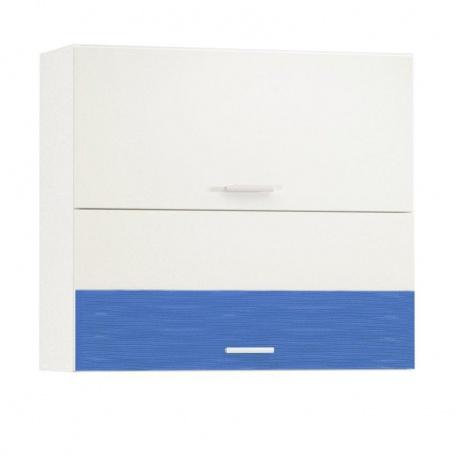 Шкаф горизонтальный 800 Жанна голубая (2 двери)