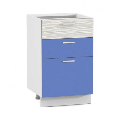 Стол 500 Жанна голубая с тремя ящиками