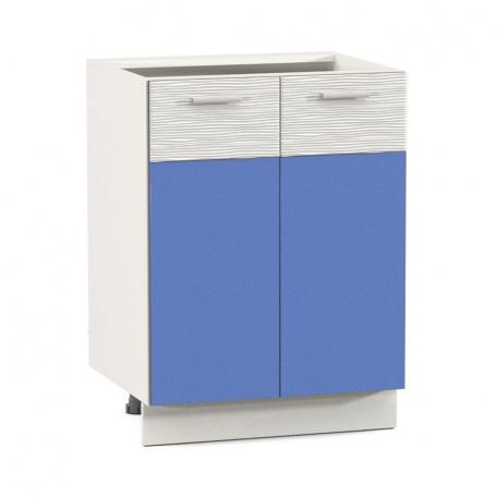 Стол 600 Жанна голубая (2 двери)