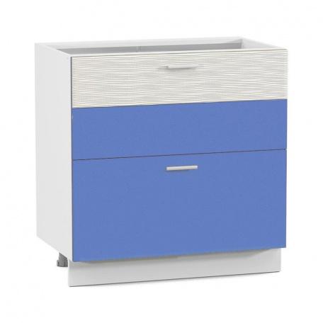 Стол 800 Жанна голубая с 2 ящиками