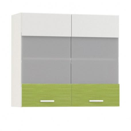 Шкаф-витрина Жанна олива 800 (2 двери)