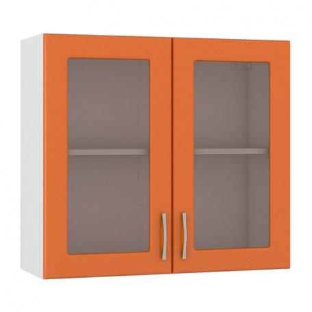 Шкаф-витрина Сандра манго 800 (2 двери)